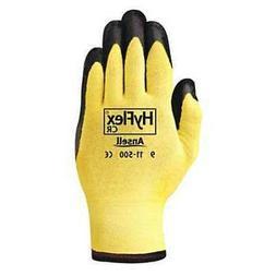 ANSELLPRO 012-11-500-10 Gloves,Nitrile,Knit Wrist,Xl,Yellow,