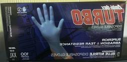 1 box Nitrile Gloves - Blue - XXL Textured GripPowdered  A