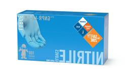 1 Box of The Safety Zone Nitrile Gloves LARGE- 100 Latex Fre