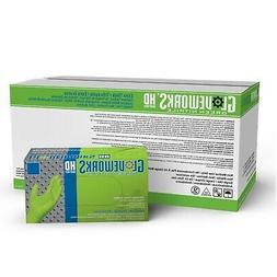 1 Case Ammex Gloveworks Green Nitrile Gloves- XL- 100 per bo