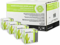 1 Case of 200 Disposable Gloves Green Industrial - 8 Mil- L