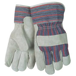MCR Safety Split Cowhide Leather Work Gloves, Large