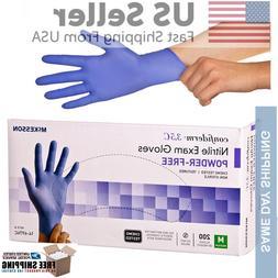 10-200 gloves ~ McKESSON NITRILE GLOVES-SIZE MEDIUM-- READ D