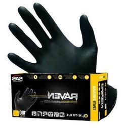 100-1000 SAS Safety RAVEN 6 mil Nitrile Gloves Powder-Free,