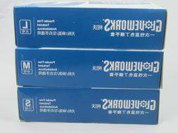 100 Ammex 4 MILS- GloveWorks Royal Blue Nitrile Gloves- S -M