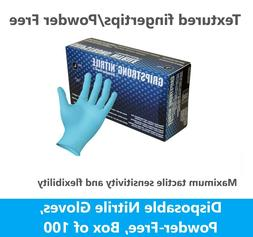 100 NITRILE DISPOSABLE GLOVES 4 MIL, MEDICAL EXAM LATEX,  PO