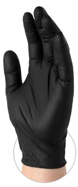 100 Black Nitrile Disposable Gloves Industrial Grade Powder/