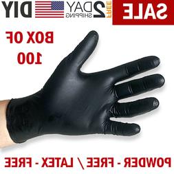 Black Nitrile Gloves Disposable Mechanic Food Exam Gloves Po