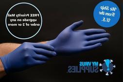 100 Black or Blue Powder Free Nitrile Gloves