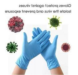 100 Blue Nitrile Exam Gloves Powder Free X-LARGE FAST ships