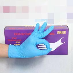 100 Blue Nitrile Medical Exam Gloves Powder Free  Size: MEDI