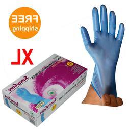 SunnyCare100 7404 Blue Vinyl Disposable Gloves Powder FreeXL