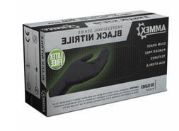 100/box /Black LARGE Nitrile Gloves Powder Free FDA ExamGrad