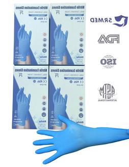 100/box Blue Nitrile Gloves Powder/Latex Free Medical Exam G