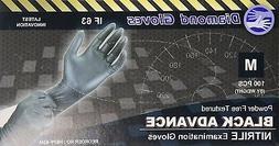 - Diamond Gloves Black Advance Nitrile Examination Powder-F