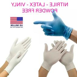 100 count Disposable Gloves VINLY Nitrile LATEX  Household C