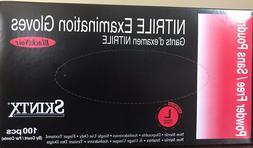 100 Glove MEDICAL Grade, SKINTX BLACK Nitrile Powder-Free, S