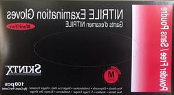 100 Glove, Size M, MEDICAL Grade, SKINTX BLACK Nitrile Powde