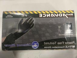 100 Diamond Gloves Black Advance Nitrile Examination Gloves: