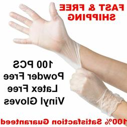 100 X-Large VINYL GLOVES Food Grade Deli Exam Powder Latex N