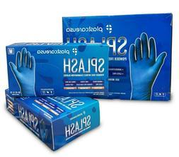100 Nitrile Dental Medical EXAM Premium Blue Gloves, Large,