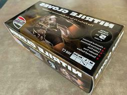 100 Pack Black Gloves Nitrile Powder Free Latex Rubber Heavy