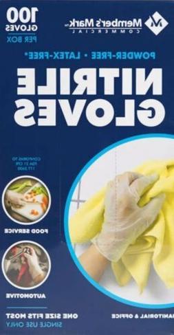 100 Pack Powder & Latex-free Nitrile Sanitary Food Service G