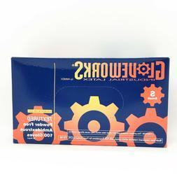 100 pcs Ammex Gloveworks Industrial Latex Disposal Glove FDA