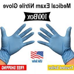 Premium Blue Nitrile Gloves Powder Free Non Vinyl Non Latex