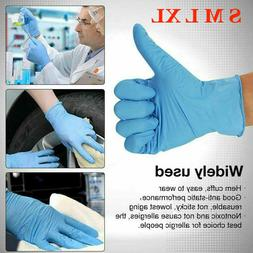 100 Pcs Nitrile Blue Durable Rubber Cleaning Hand Gloves Pow