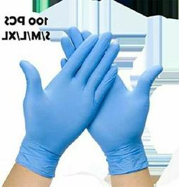100 Pcs Nitrile Durable Rubber Cleaning Hand Gloves Powder F
