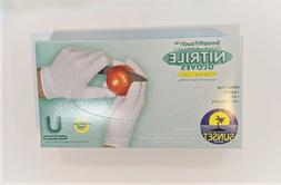 100 pcs, size U- White Nitrile Gloves, Powder- Free, Latex-