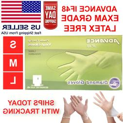 100 PCS Vinyl Gloves Clear Powder Free NON Latex EXAM Gloves