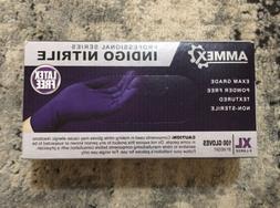 100 AMMEX Professional Series Indigo Nitrile Gloves Exam Gra