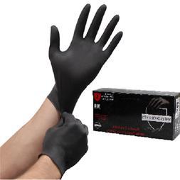 100 Shield™ Nitrile 5mil Powder Free Gloves Black  XL