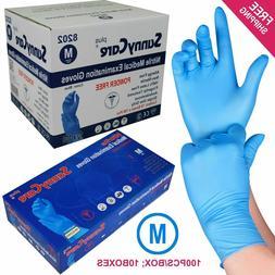 1000 Blue Nitrile Medical Exam Gloves Powder Free  Size: MED
