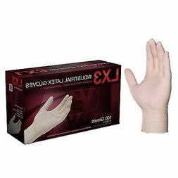 1000/cs AMMEX LX3 Disposable Powder-Free Latex Industrial Gl