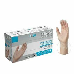 1000/cs AMMEX VPF 3 Mil Disposable Gloves Medical Vinyl Powd