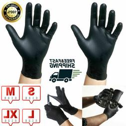 1000 Disposable Nitrile Gloves Black S M L XL Slip Resistant