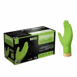1000 GLOVEWORKS Green Nitrile Industrial Latex Free Disposab