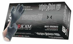 Microflex MidKnight  Black Powder-Free Nitrile Gloves-FULL