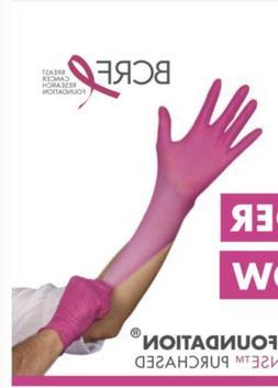 1000 PINK BCA Nitrile Gloves CASE THINSENSE MEDIUM  - FREE S