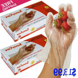1000 Polyethylene Food Service Disposable Gloves Large