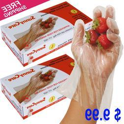 1000 Polyethylene Food Service Disposable Gloves Large