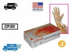 1000 Powder Free Vinyl gloves Foodservice Grade  -Medium