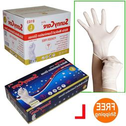 1000 White Nitrile Medical Exam Gloves Powder Free  Size: LA