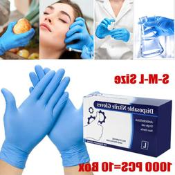 1000 Pcs Nitrile Blue Durable Rubber Cleaning Hand Gloves Po