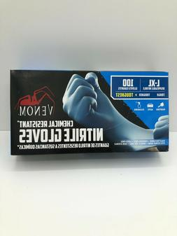 100ct venom steel disposable nitrile gloves blue
