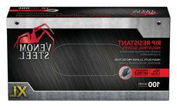 100ct venom steel rip resistant disposable black