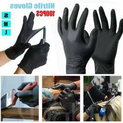 100Pc Mechanic Nitrile Gloves Disposable Tattoo Latex Powder